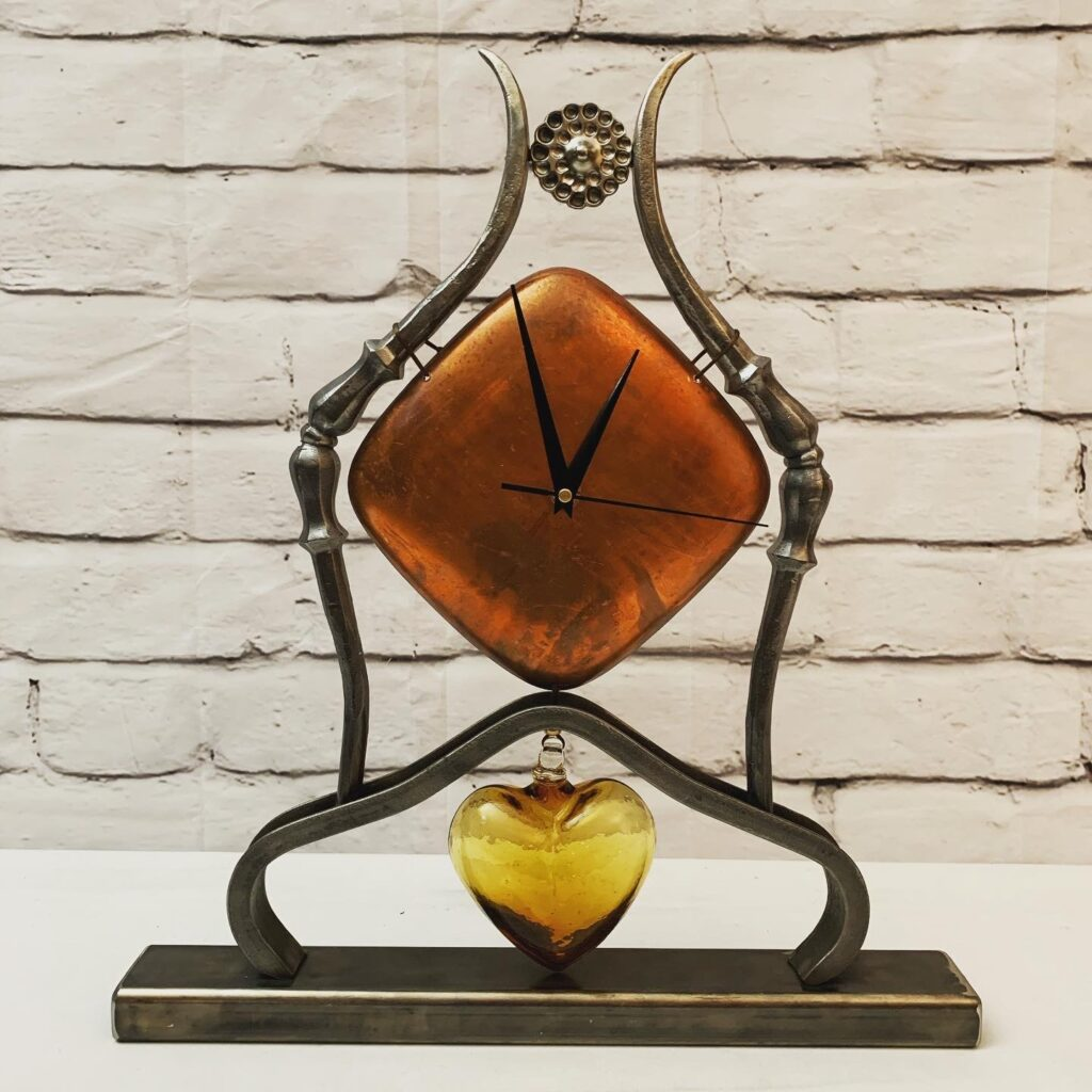 Glass Heart Clock
